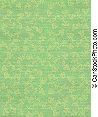 Faded Jade Faint Floral print Paper Background