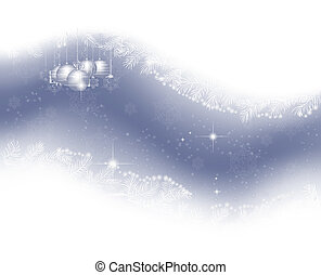 Cristmas background - Christmas background with fir...