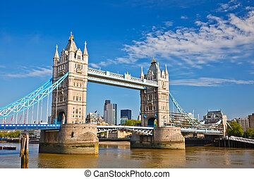 Tower Bridge in London, UK