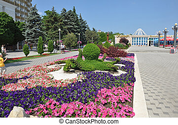Quay, the city of Anapa, Russia