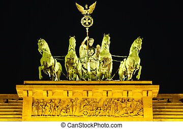 Quadriga on Brandenburg gate in Berlin
