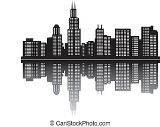 chicago skyline - Chicago USA skyline of the city