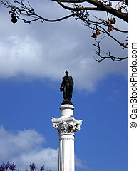 Duke - Statue in a park over a blue sky