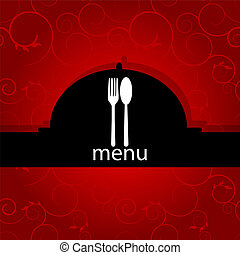 Menu pattern - Vector menu pattern with spoon and fork on...