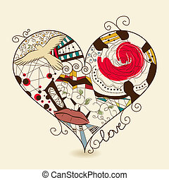 Abstract heart - Vector picture of abstract heart