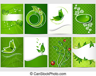Bio design - Vector eco design background set