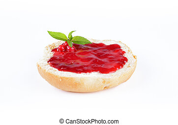 Fresh roll with jelly