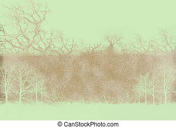 tree with old grunge antique paper texture - tree with old...