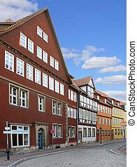 Kreuzstabe Hannover - Medieval houses in Kreuzstabe street...