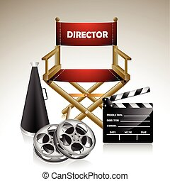 Directors Chair - Vector illustration representing directors...