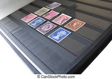 album with post stamps
