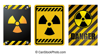 Nuclear energy warning. Illustration