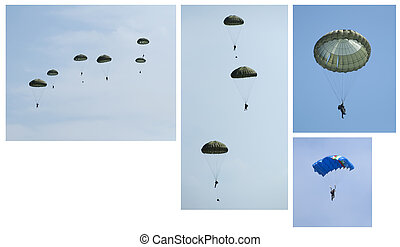 Paratroopers, Group and independent Five images