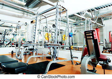 interior - Gym centre interior Equipment, gym apparatus