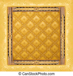 Abstract luxury golden border