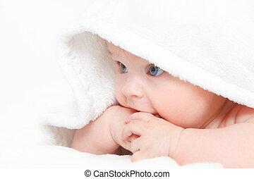 lindo, bebé, niña