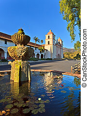 Santa barbara mission, ca, usa