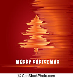 Christmas greeting card in warm colors of the holidays