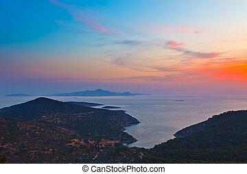 Greek islands before sunrise