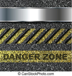 Abstract background with danger warning, vector.