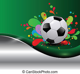 soccer background - Abstract soccer sport background,...