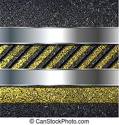 Abstract background with asphalt texture, vector.
