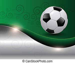 soccer background - Green soccer background vector...