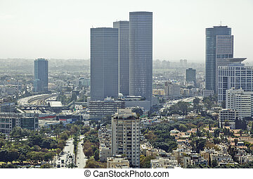 Tel Aviv Cityscape - Tel Aviv skyline at day / Aerial view...