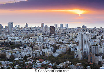 Tel aviv skyline - Tel Aviv At sunset