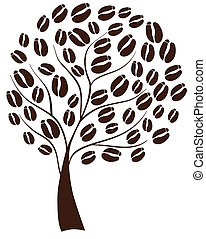 Coffee tree - Vector illustration of a coffee tree
