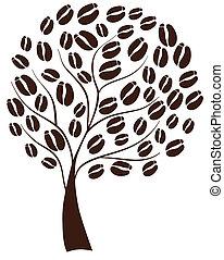 café, arbre