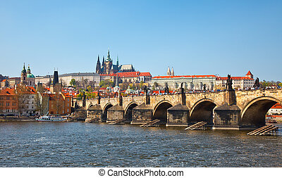 View on Charles bridge, Prague