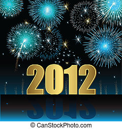 Happy New Year 2012 - Illustration vector background