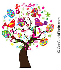 Easter tree - Vector illustration of Easter tree