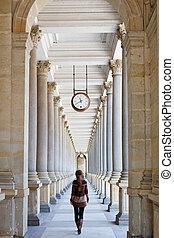 colonnato, Karlovy, variare, ceco, repubblica