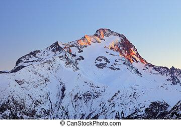 Peak of Roche de la Muzelle in French Alps