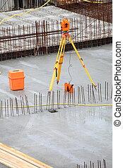 equipment theodolite tool at construction site