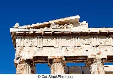 Detail of Parthenon in the Acropolis, Athens