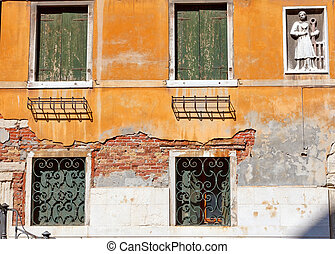 Detail of building in Venice