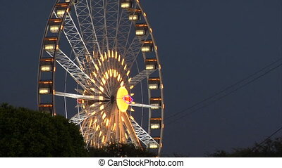Ferris wheel night slow - This is a shot of a ferris wheel...