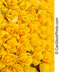 Yellow artificial rose background, at shenzhen, china