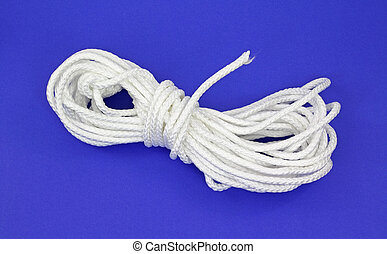 White polypropylene rope - A large length of white...