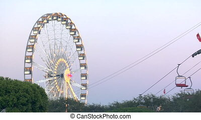 Ferris Wheel - This is a colorful ferris wheel at dusk