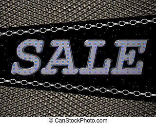 Sale Word against the background of a chain