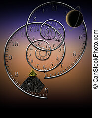 The Myth of Time - Spiral clocks and space time