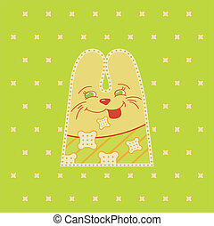 Cartoon fun rabbit