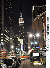 New York Empire - Empire State Building at night, photo...