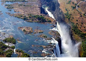 Victoria Falls air view