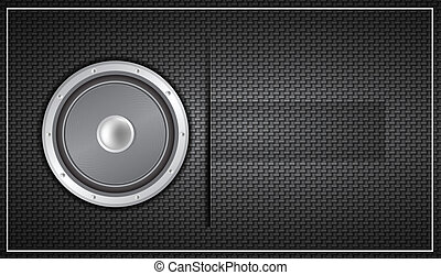 Black loudspeaker business card - Vector illustration for...