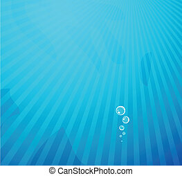 Vector deep blue water - Vector illustration for your design